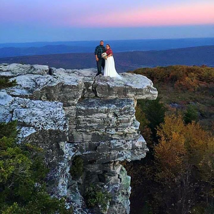 11. Lara Marks shared this awesome picture from her wedding at Bear Rocks at Dolly Sods Wilderness. Congrats to the happy couple!