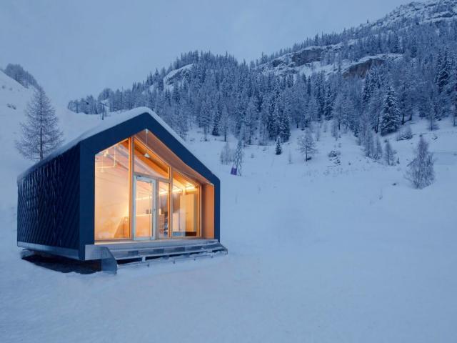 6) A modern, energy-efficient tiny home.