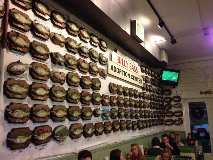 5. Flying Fish's Retired Billy Bass Wall