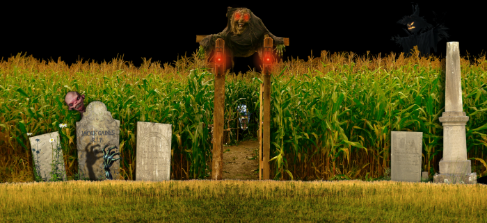 3) This haunted maze at Gaines Farm in Guilford.