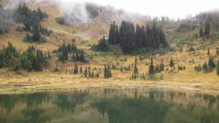 13. Brandon Pawley sent us this great photo of a small lake off Highway 410 by the Naches Peak Loop Trail.