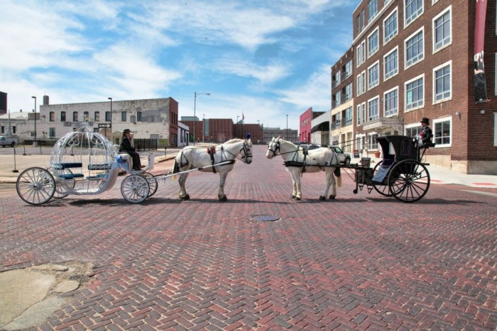 11. Go on a horse-drawn carriage ride in Omaha's historic Old Market.