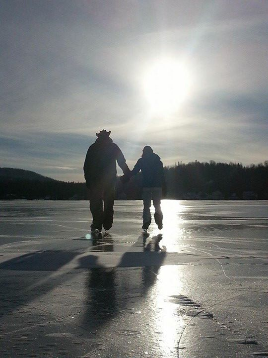 20) And A walk on frozen Joe's Pond, captured by Bill Kelly.