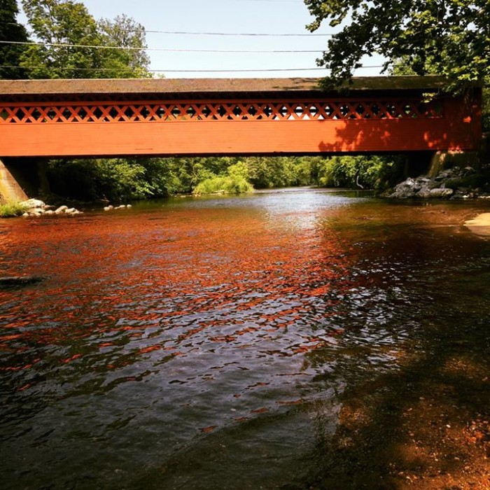 15) This shot of Henry Bridge and its blood-red reflection on the water in Bennington was captured by Christy Lynn