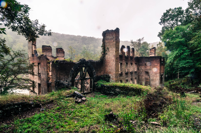 11. The ruins of the New Manchester Manufacturing Company at the Sweetwater Creek State Park in Georgia by Trey Walker