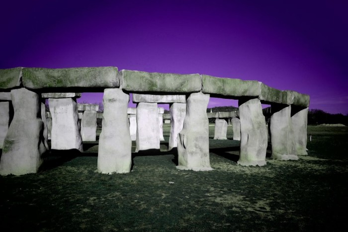 2) Another marvelous photograph by Carol McAllen of the Stonehenge replica near Kerrville!