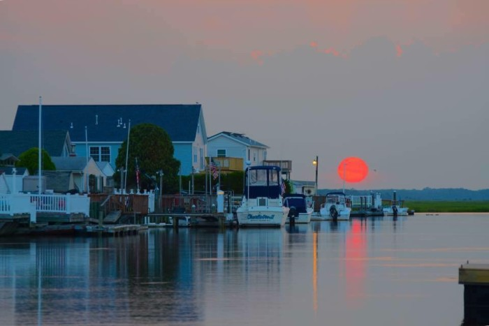 4. Mystic Island red sunset, taken by Rob Libonati.