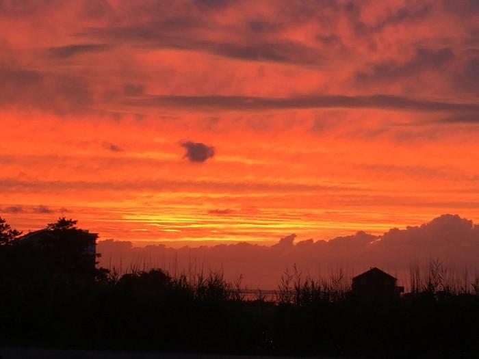 11. A red sky in LBI, taken by Judy Barry.