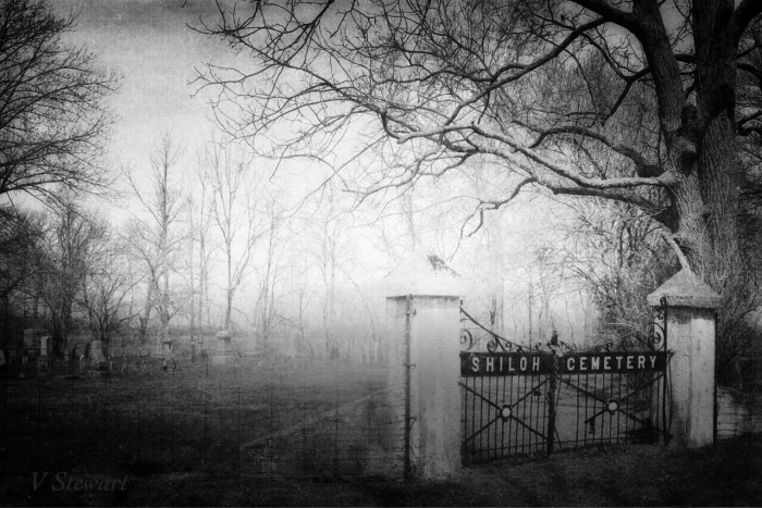 7. Vanessa Stewart sent me a spooky picture of Shiloh Cemetery taken in Greensburg. Spooky!