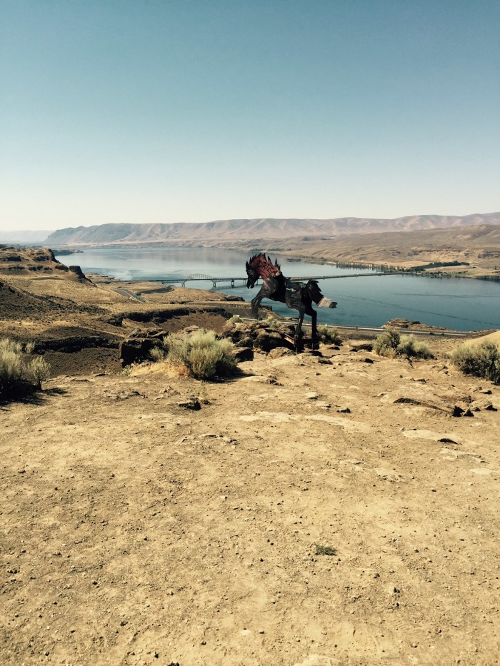 14. A magnificent shot of the Wild Horses Monument near Vantage, taken by Brenda Boylan!