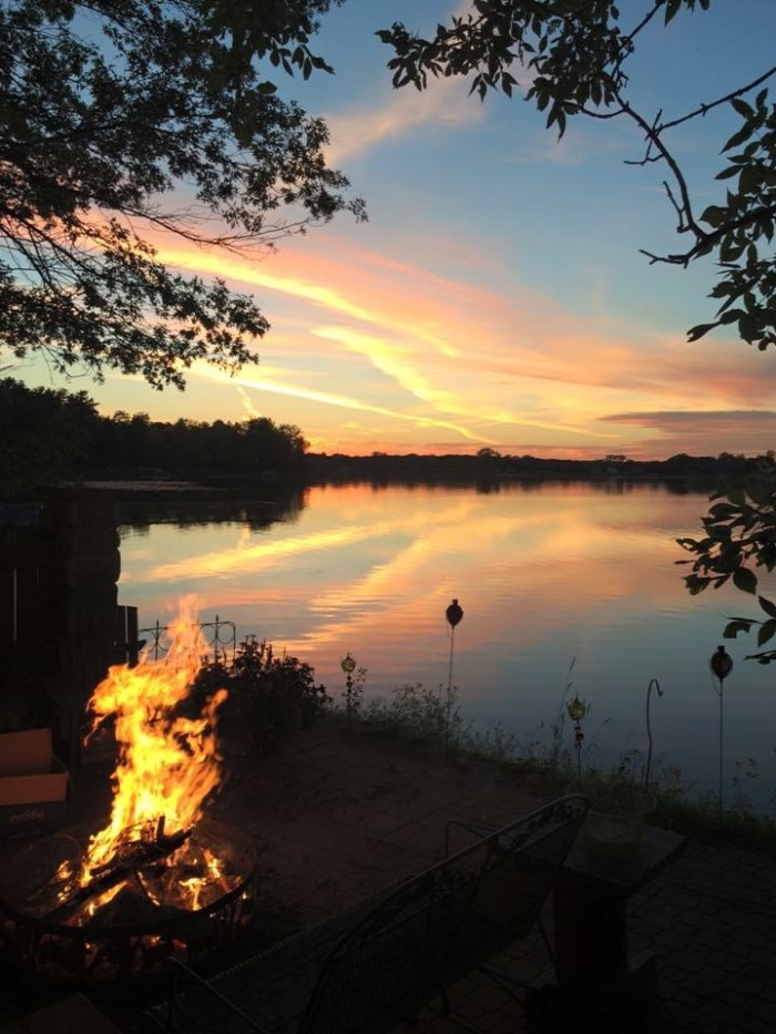 5. Sunset and a bonfire. The perfect MN evening photographed by Carrie Nelson Norenberg.