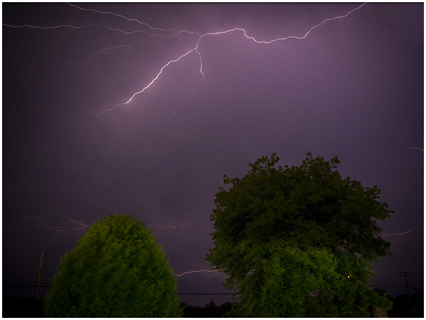 10. This lighting storm outside the Marlinton Motor Inn.