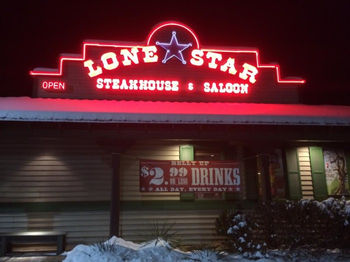 9. Lone Star Steakhouse in Charleston and Beckley