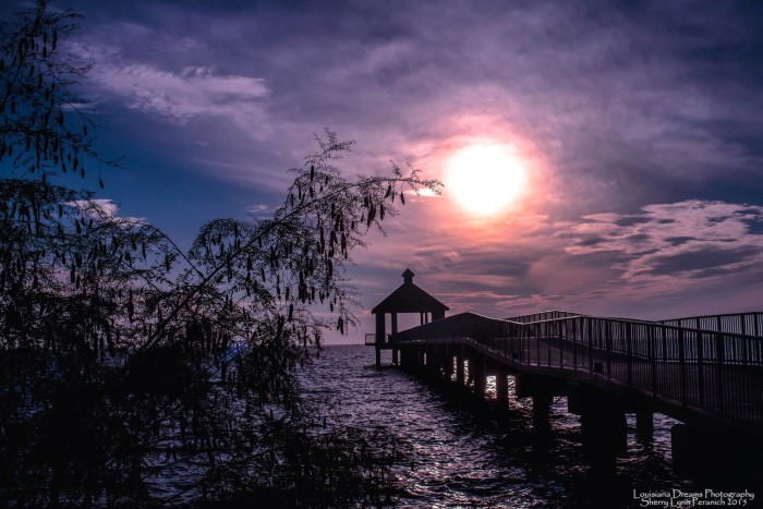 5) Lake Pontchartrain at the end of the day