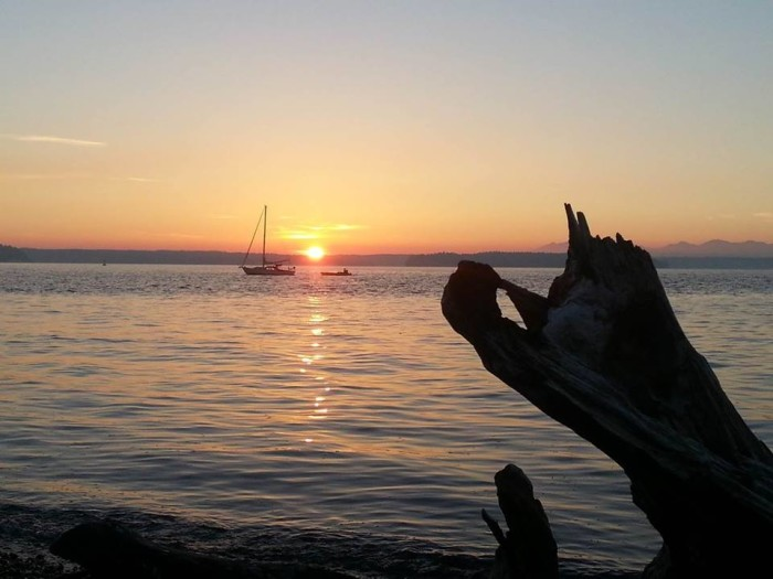 12. Daria M. Brockliss shared this warm moment with us from Lowman Beach in Seattle!