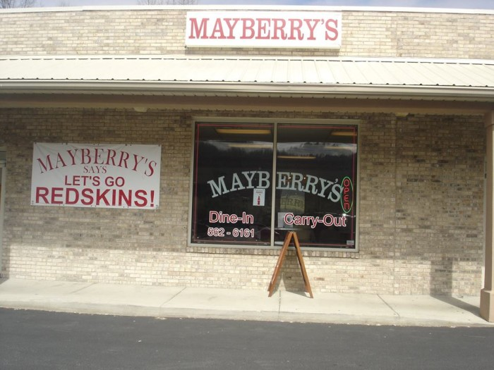5. Mayberry's in Hurricane