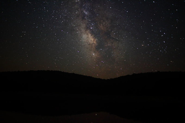 9. The gorgeous Milky Way over the Mountain State.