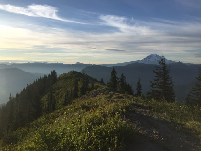 12. Camron Falter sent us this marvelous photo of Mount Adams and the Gifford Pinchot Forrest!