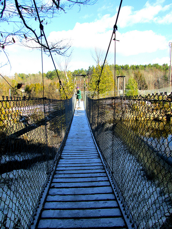14. Arnold Bridge over Otter Creek Gorge Preserve Trail, Middlebury, VT.