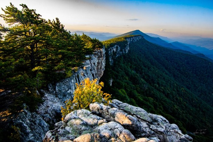 11. Samuel Taylor took a spectacular shot of North Fork Mountain Trail.