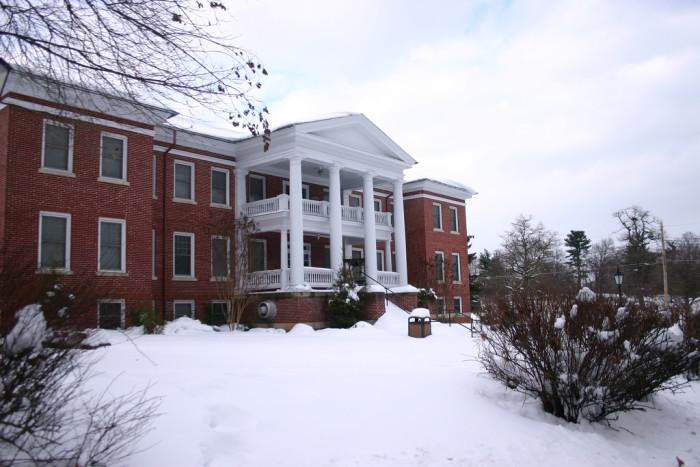 7. The nursing student in Miller Hall at Shepherd University