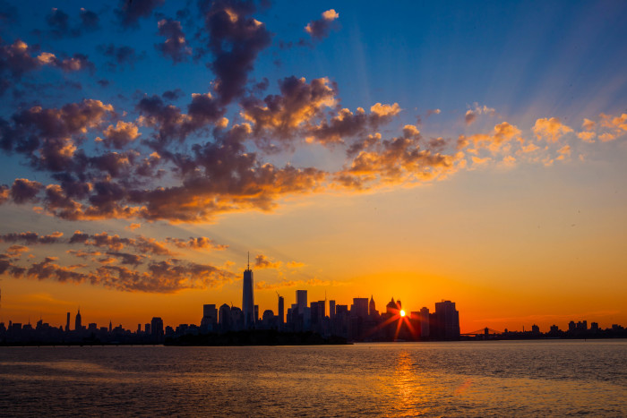 1. A sunrise in New York City is one of the most beautiful views in the world, so let's start there.