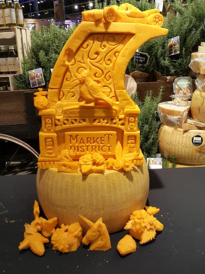 Yes, this is carved out of cheese.
