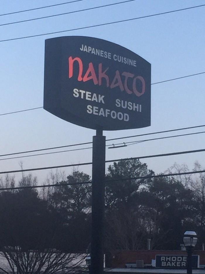 9. Nakato Japanese Restaurant - 1776 Cheshire Bridge Rd NE Atlanta, GA 30324 Morningside / Lenox Park
