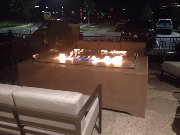 You can even enjoy this place while sitting outside in front of a fire!
