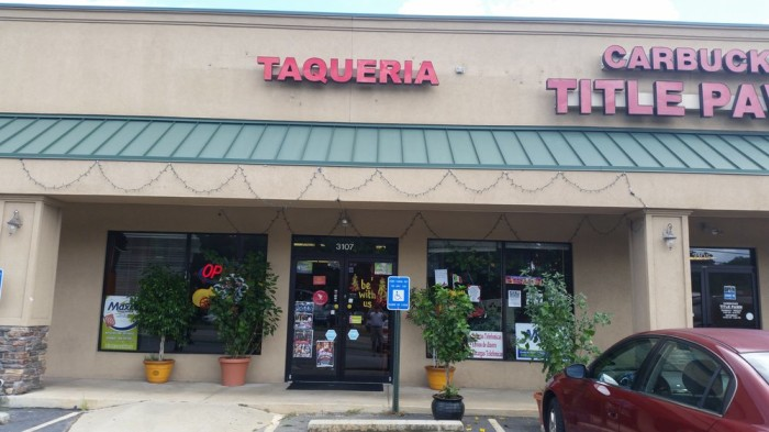 5. Taqueria El Patron - 3107 Washington Rd Augusta, GA 30907