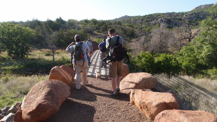 2. Take a hike on one of the beautiful trails in Oklahoma.