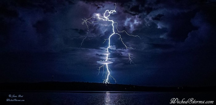 2. The striking beauty of the lightning over Lake Tenkiller was submitted by Jesse Post.