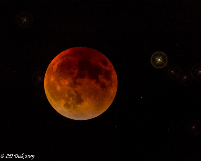 10. The Super Blood Moon over Oklahoma in September 2015.