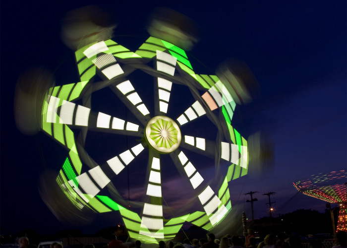 8.  The Payne County Fair looking bright and fun.