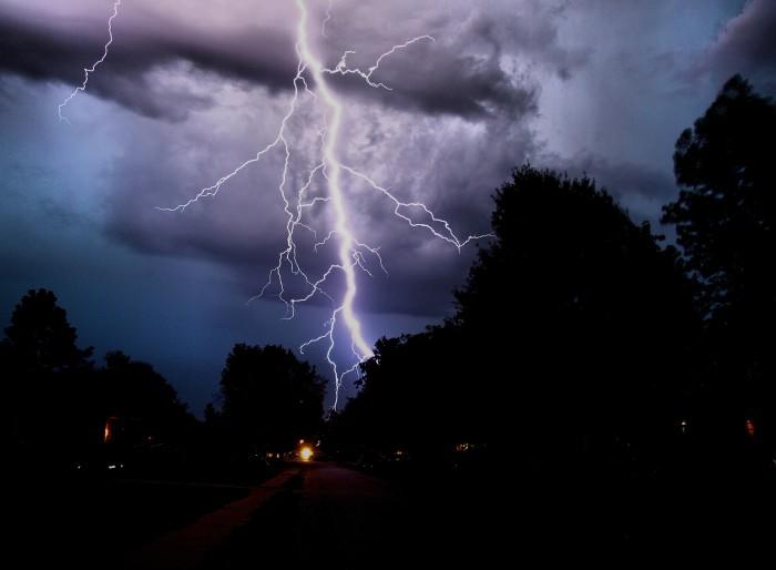 5. A massive lightning bolt over Owasso in 2011.