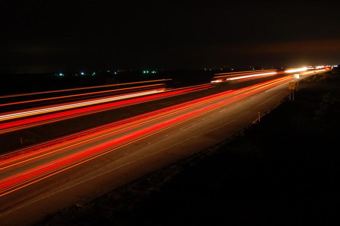 7. A long exposure shot taken in Oklahoma.