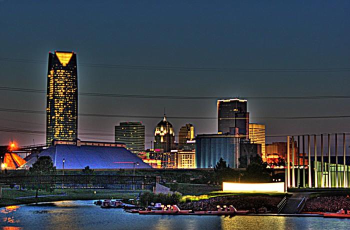 6. The Oklahoma City skyline.