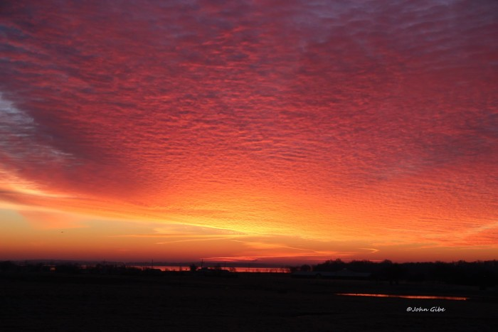 4. This gorgeous sunrise is in Afton, OK.