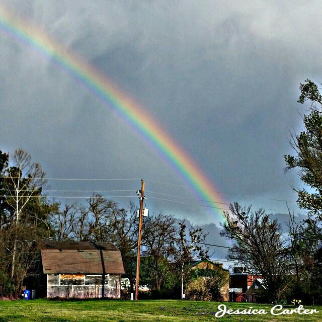 2. This brightly colored rainbow was captured in Antlers, OK.