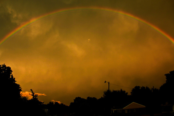 7. This rainbow was captured at sunset in Oklahoma City.
