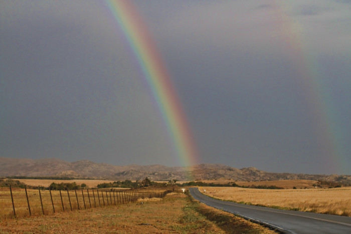 1. A double rainbow in the Wichita Mountains.
