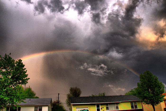 8. This rainbow was spotted after a storm in Owasso, OK.