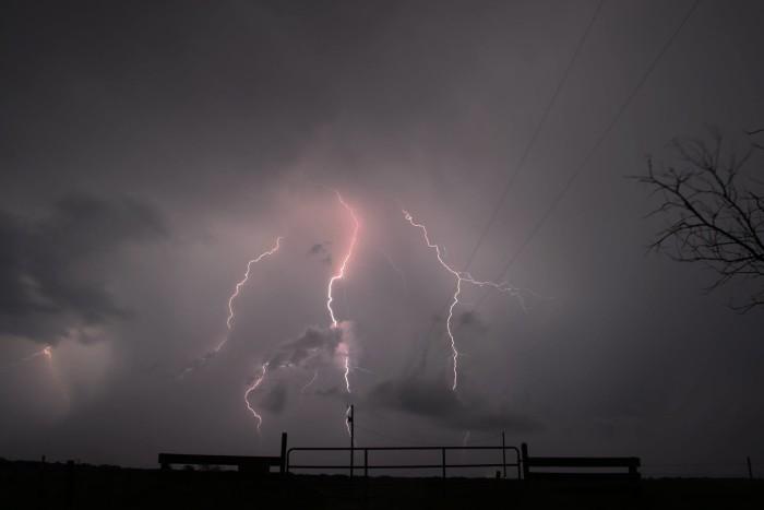 19. Lightning strikes again in Norman, OK.