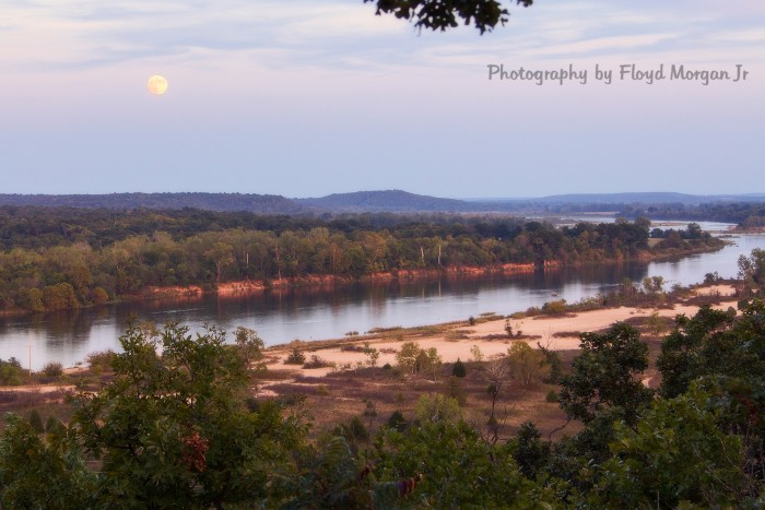 16. What a great view of The South Canadian River directly below Lake Eufaula Dam.