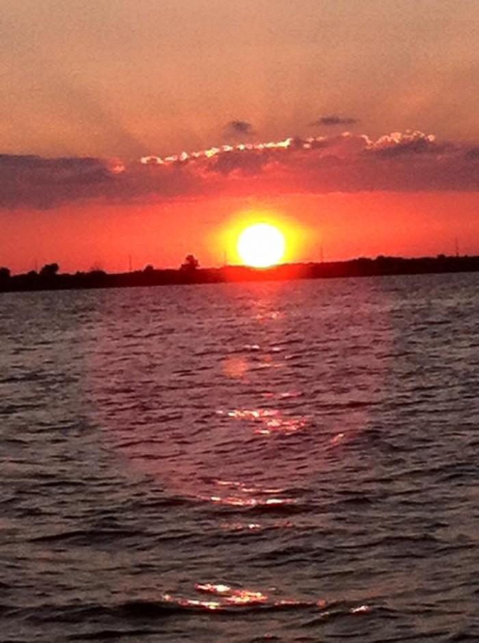 12. A magnificent sunset on Eufaula Lake.