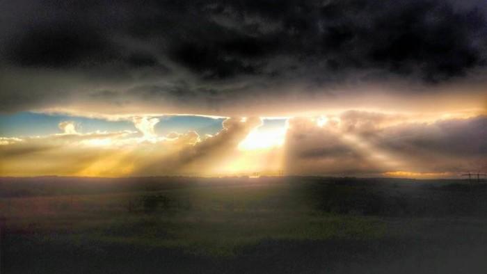 6. It looks like heaven is beaming down on Oklahoma.