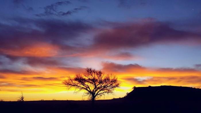 1. A beautiful sky above Gloss Mountains near Fairview, OK.