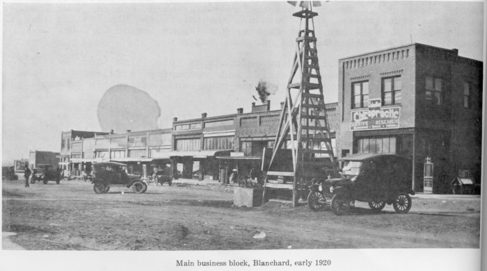15.  This is what the Blanchard business block looked like in 1920.