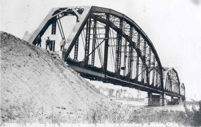 14.  The bridge across South Canadian River in 1910.