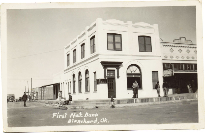 12.  The First National Bank in Blanchard, OK, in 1920.
